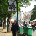 Rufus wandering the Pori Festival grounds