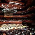 The Kimmel Center with the Philadelphia Orchestra preparing to perform